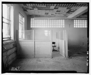 View_of_office_cubicle_looking_south_-_Skinner_Meat_Packing_Plant,_Main_Plant,_6006_South_Twenty-seventh_Street,_Omaha,_Douglas_County,_NE_HAER_NE-12-A-26.tif